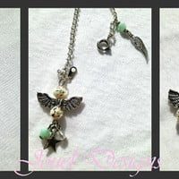 Jewelry Set Guardian Angel Necklace Bracelet Earrings