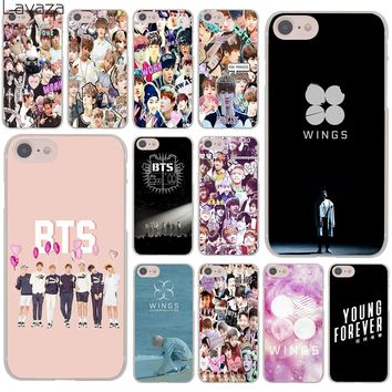 Lavaza BTS Bangtan Boys  Collage wings Hard Cover Case for Apple iPhone 8 7 6 6S Plus 5 5S SE 5C 4 4S X 10 Coque Shell