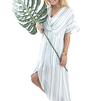 Women's Show Me Your Mumu Get Twisted Striped Maxi Dress