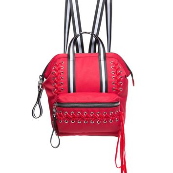 Red Laced Mini Backpack