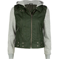 LAST KISS Hooded Faux Leather Womens Jacket 194960530   jackets & vests   Tillys.com