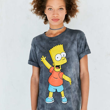 Bart Simpson Tie-Dye Tee - Urban Outfitters