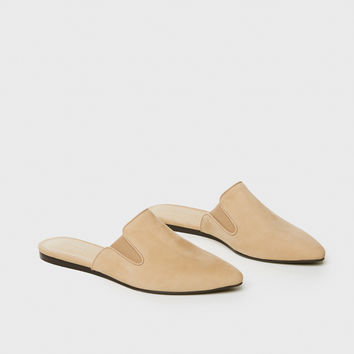 Oiled Leather Mule - Natural