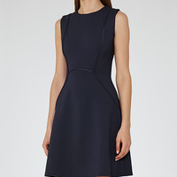 Honor Midnight Fit And Flare Dress - REISS