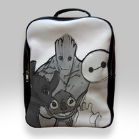 Backpack for Student - Baymax Groot Stitch Toothless Bags