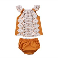 Chic Lace Top & Bloomers Set