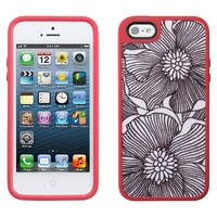 Speck FabShell Case for iPhone® 5 - FreshBloom Coral Pink/Black