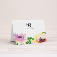 Personalized Monogram Stationery, Set of 10 | Folded Note Cards | Everyday Greeting Cards | Melody