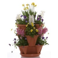 Nancy Janes 12 in. Self Watering Stacking Planters Set of 3 | www.hayneedle.com