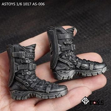 TopToys 1/6 Scale Military Combat Boots Shoes ASTOYS AS006 Avengers Falcon Soldier Clothing accessories with feet the old Model