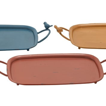 Simple And Exquisite Metal Tray 3 Assorted