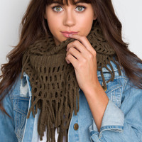 Let's Meet Fringe Scarf