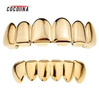 ONETOW Gold Color Grillz Teeth Grillz Fashion Electroplating Teeth Grillz Teeth Mouth Grills Body Jewelry For Women&men COCOTINA D02872