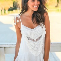Ivory Top with Lace Ruffles