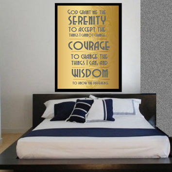 Serenity Prayer - Lrg 24x36 Print, Christian Wall Art Decor, Scriptures, faith, Religious Gift, Bible, courage, Holy Spirit, wisdom, prayer