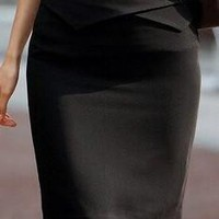 Elegant Business Professional Pencil Skirt OL Skirts Black