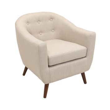 Rockwell Cream Modern Accent Chair By LumiSource