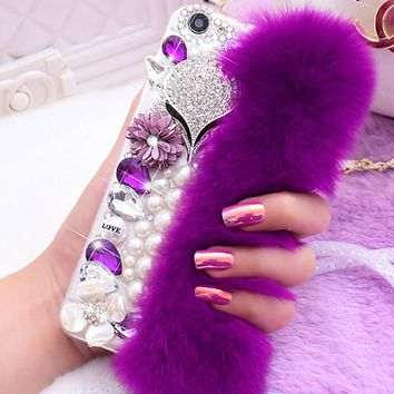 Woman Luxury Rhinestone Diamond Case Lady  Cover For Samsung Galaxy Note 8/S8 Plus/Xcover 4