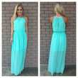Sparkle in Mint Maxi Dress