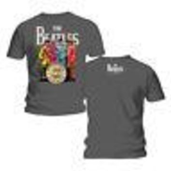 The Beatles Sgt Peppers Lonely Hearts Club Band Licensed Adult T-Shirt - Grey