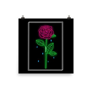 Crying Rose Print
