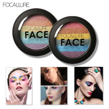 FOCALLURE Rainbow Highlighter Eye Shadow [9036704964]