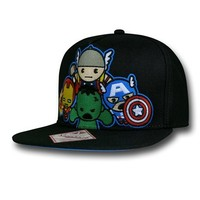 Marvel Group Kawaii Black Snapback