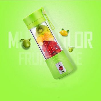 Electric Fruit Juicer Machine Mini Portable USB Rechargeable Smoothie Maker Blender