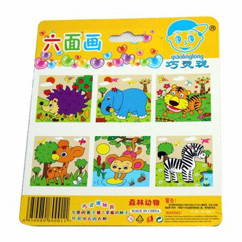 New Farm Three-dimensional Wooden Jigsaw Puzzle Six Sides Children's Educational Toys