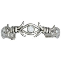 Montana Silversmiths Women's Barbed Wire and Crystal Cuff Bracelet