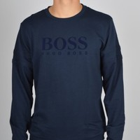 Hugo Boss Black Big Logo Sweatshirt 50271560 - Navy