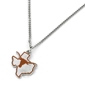 Texas Longhorns Necklace State Design