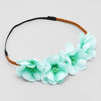 Mint Green Tropical Flower Crowns
