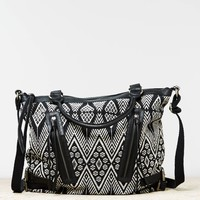 AEO Buckled Jacquard Satchel | American Eagle Outfitters