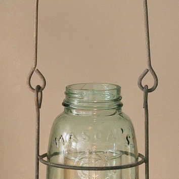 Midget Pint Hanging Mason Jar Candle Holder