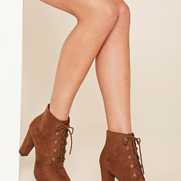 Faux Suede Platform Ankle Boot