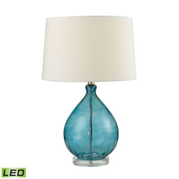 Wayfarer Glass LED Table Lamp in Teal Teal