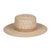 Spencer Boater Hat (Natural/Fawn)
