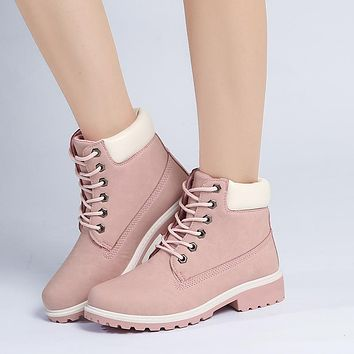 LZJ 2018 Fashion Motocycle booties Women Boots Botas Female Womens Ankle Boots Square Heel Martin Boots Autumn Shoes Camouflage