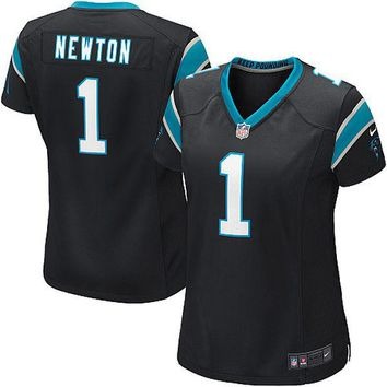 Women's Carolina Panthers Cam Newton Nike Black Limited Jersey