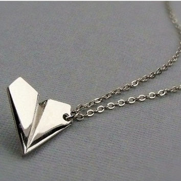 One Direction Paper Airplane Necklace - Harry Styles Paper Airplane Necklace