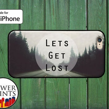 Let's Get Lost Road Travel Cute Wander Tumblr Accessory For Rubber iPhone 4 and 4s and iPhone 5 and 5s and 5c and iPhone 6 and 6 Plus +