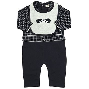 Armani Baby Boys Romper and Bib Gift Set