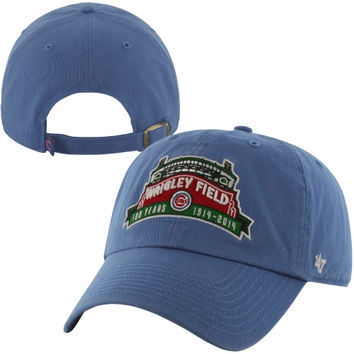 47 Brand Chicago Cubs 100th Anniversary Clean Up Marquee Adjustable Hat - Faded Blue