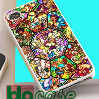 All Disney Characters Stained Glass For Iphone 4/4s, iPhone 5/5s, iPhone 5C, iphone 6, and iPhone 6 Plus Case