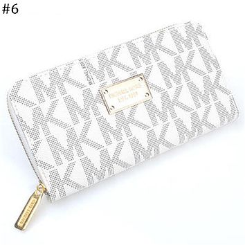 MK Michael Kors classic print women's zipper organ wallet long wallet #6