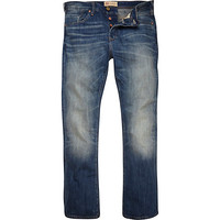 River Island MensMid wash Clint bootcut jeans