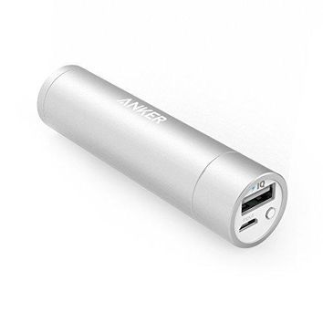 Anker PowerCore+ mini 3350mAh Lipstick-Sized Portable Charger (3rd Generation, Premium Aluminum Power Bank) One of the Most Compact External Batteries, Uses Panasonic Cells
