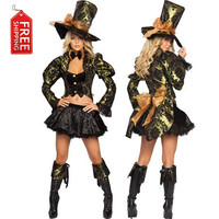 mad hatter costume women adult alice in wonderland costume adult party cosplay halloween costumes for women dress Alternative Measures - Brides & Bridesmaids - Wedding, Bridal, Prom, Formal Gown