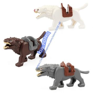 20PCSLOT Legoingly Lord of the Rings Wolf Knight Wolf Horse Wolf Figures Bricks Building Blocks Bricks Action Toys Kids Gifts